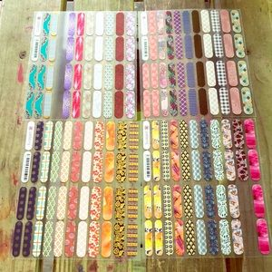 Lot of 4 Sheets of Assorted Jamberry Nail Decals